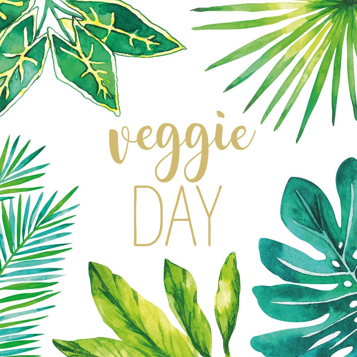 餐巾33x33厘米 - Jungle Veggie