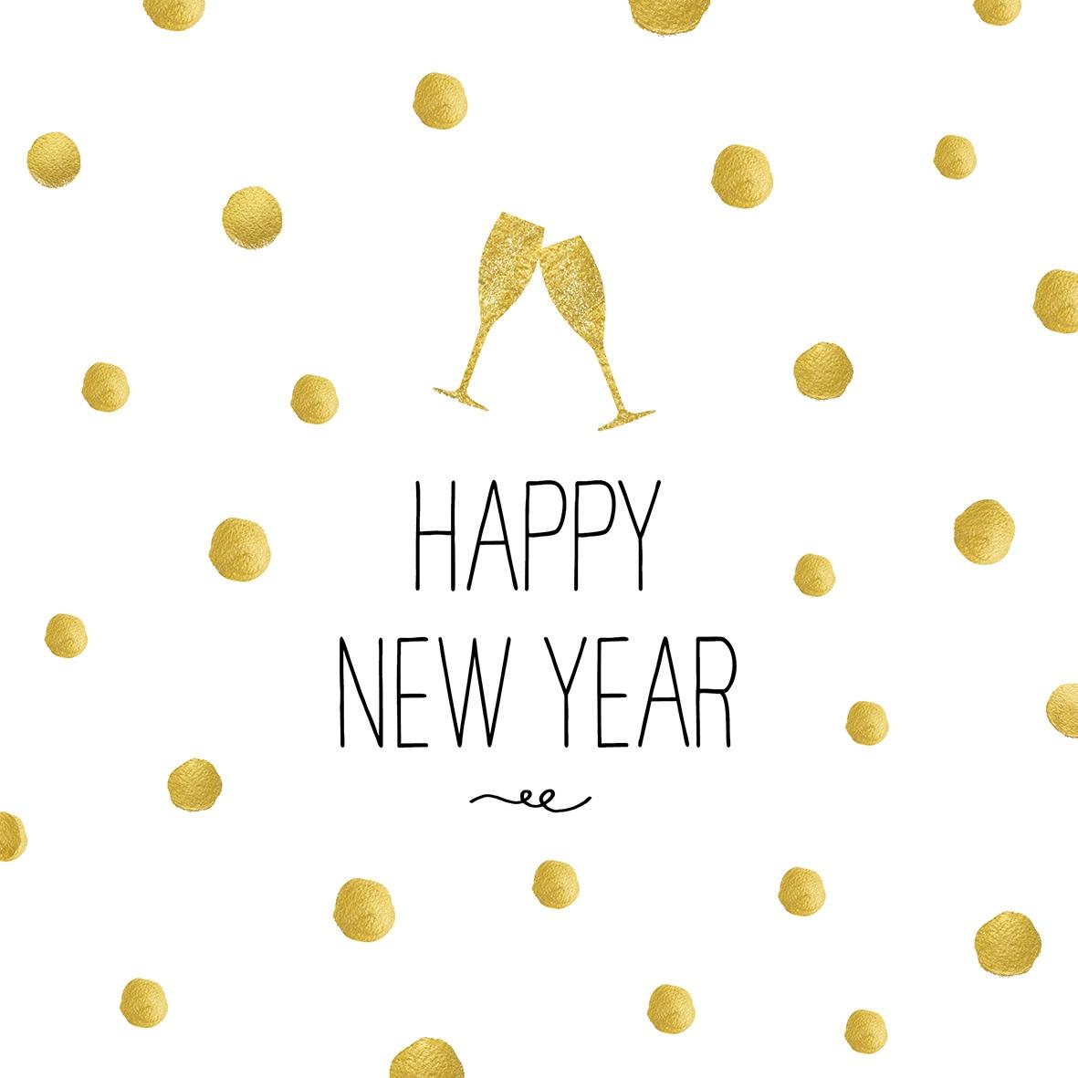 Servilletas 25x25 cm - Happy New Year!