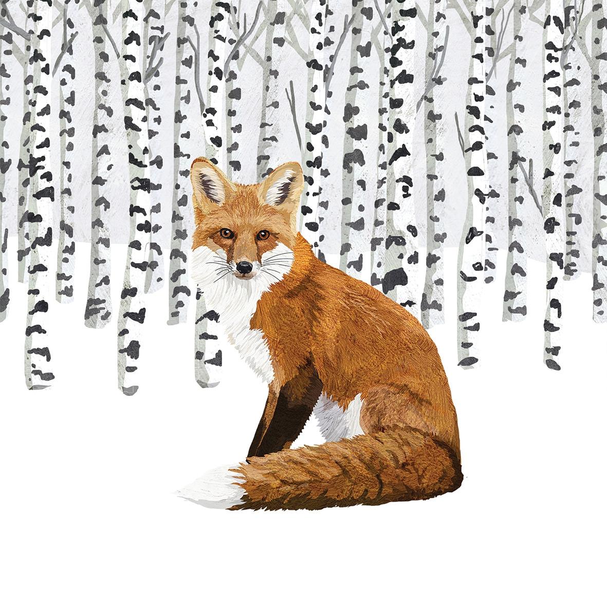 Servilletas 25x25 cm - Wilderness Fox