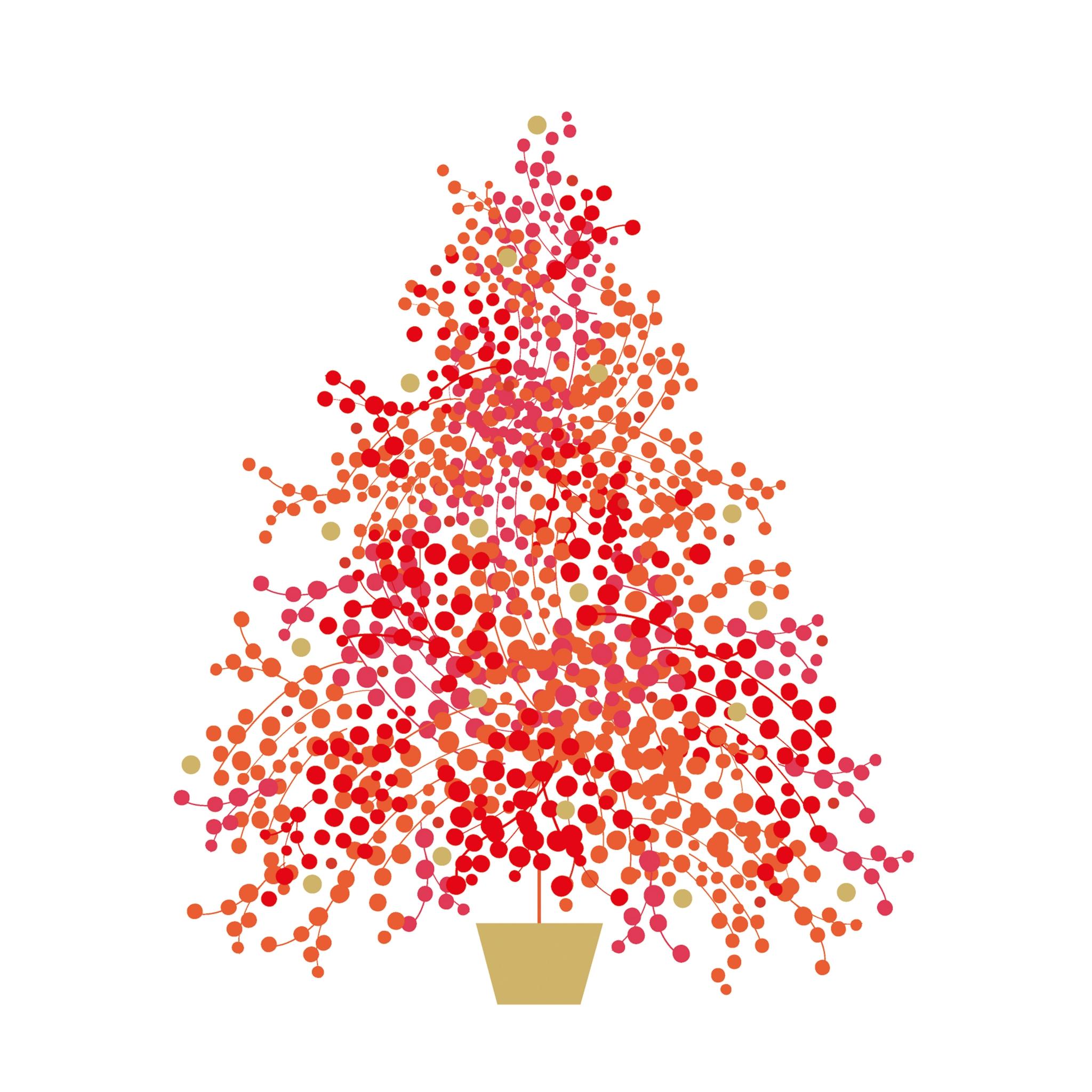 Servilletas 25x25 cm - Season´s Tree