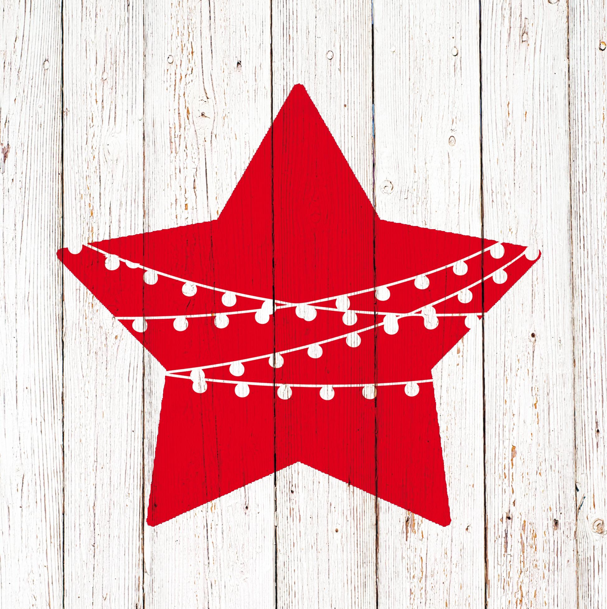 Napkins 33x33 cm - Chalet Deco Star