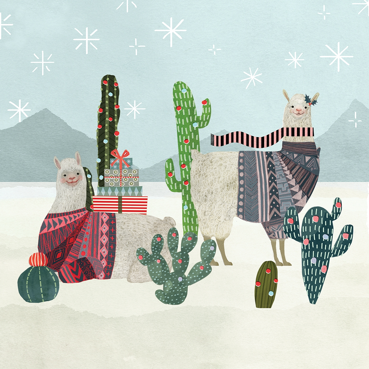 Napkins 33x33 cm - Holiday Llamas