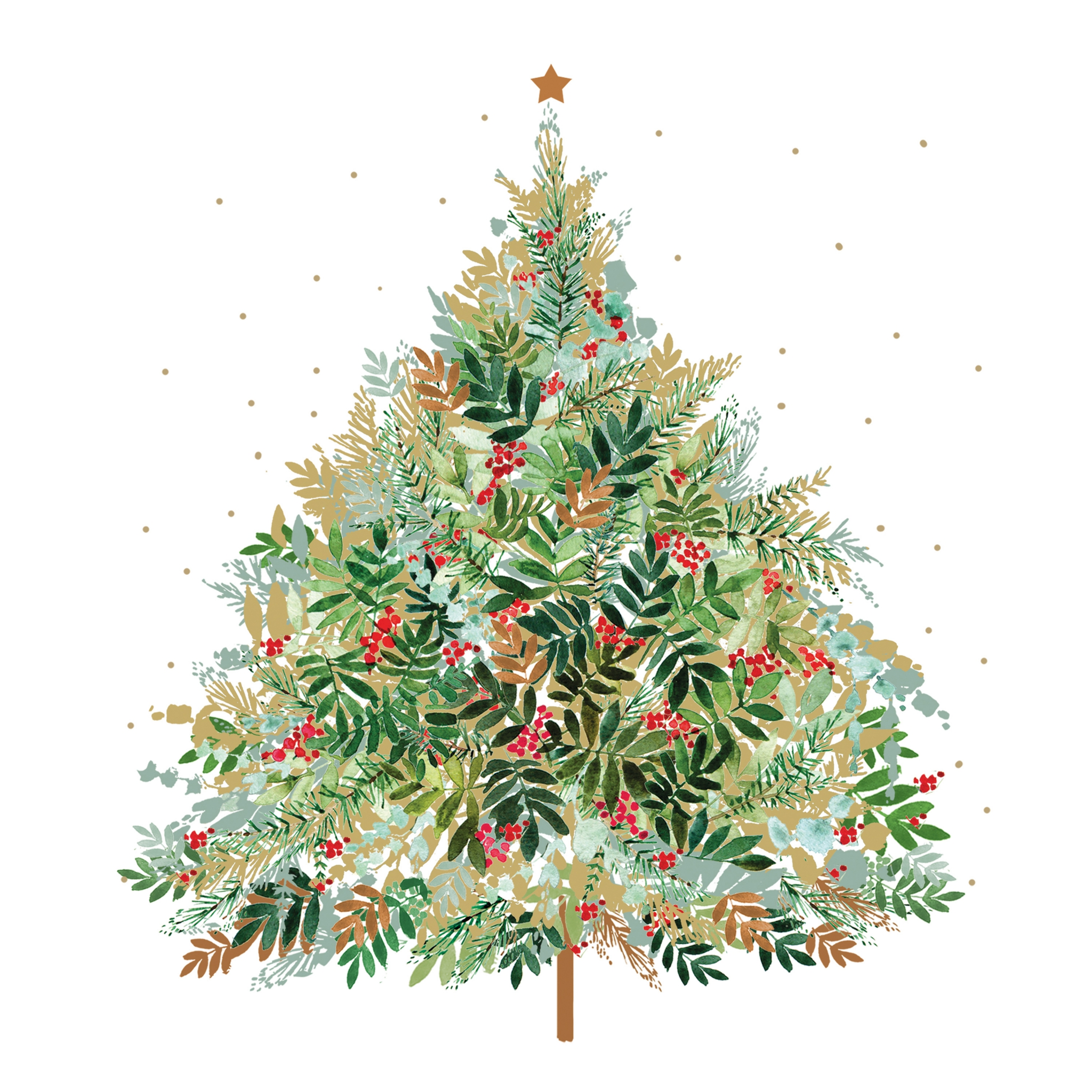 Servilletas 33x33 cm - Christmas Hill Tree Napkin 33x33