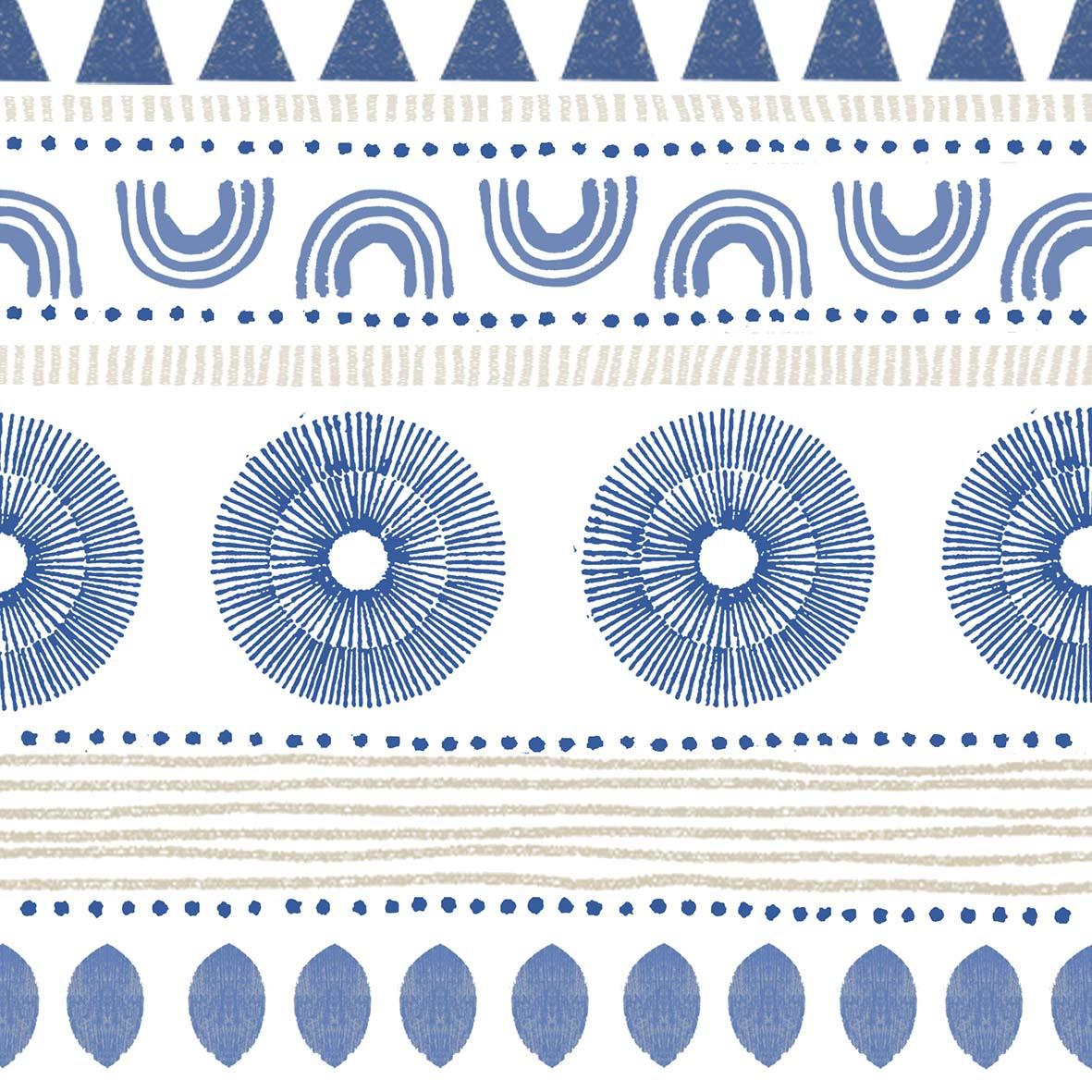 Napkins 33x33 cm - Ethno Style blue