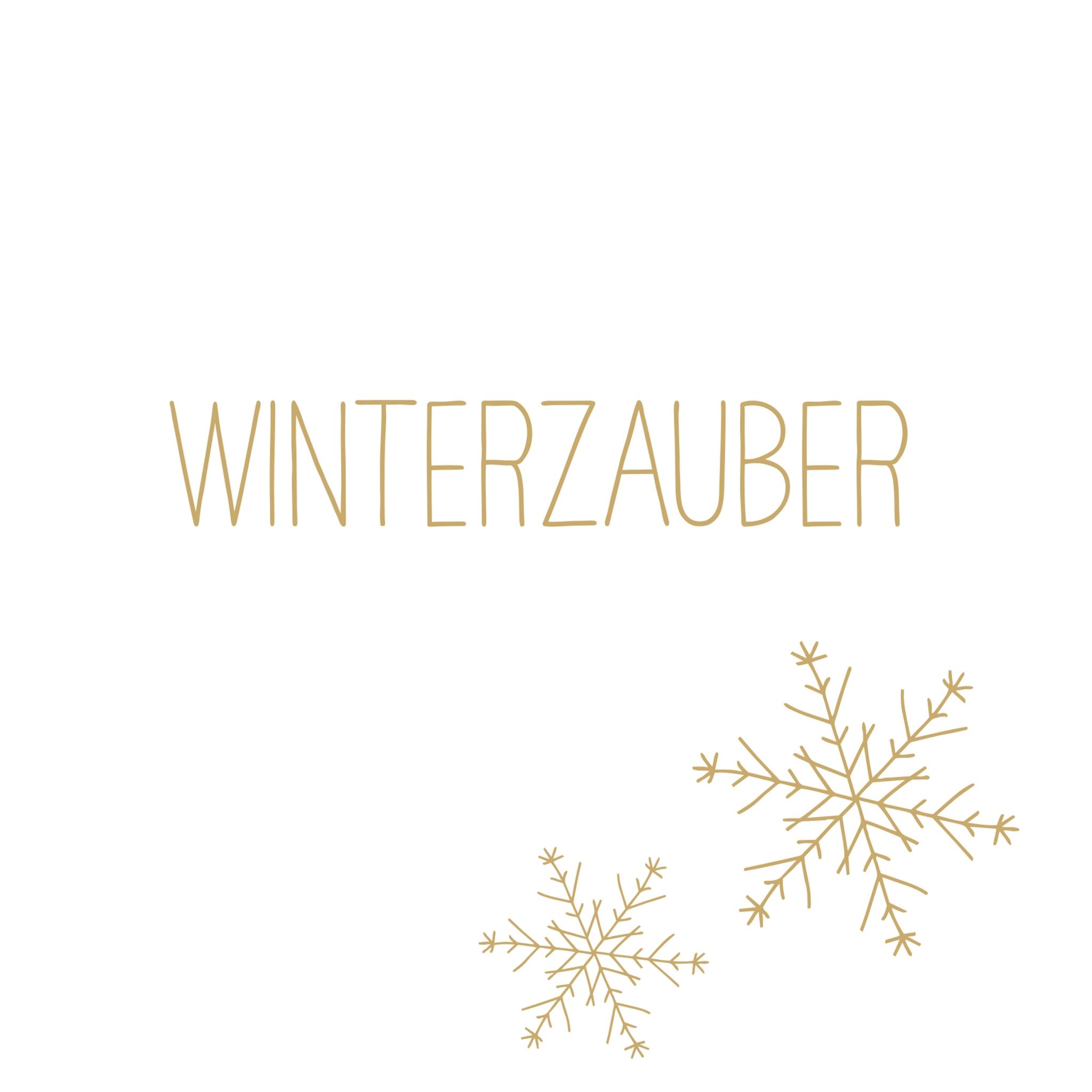 Servietten 33x33 cm - Winterzauber gold