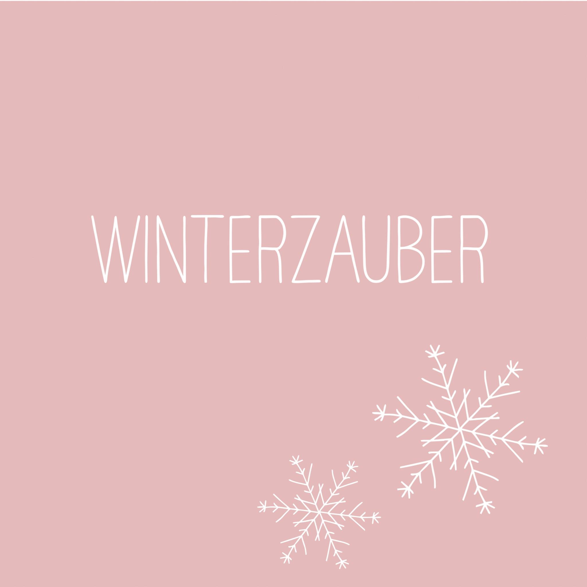 Servietten 33x33 cm - Winterzauber rosé