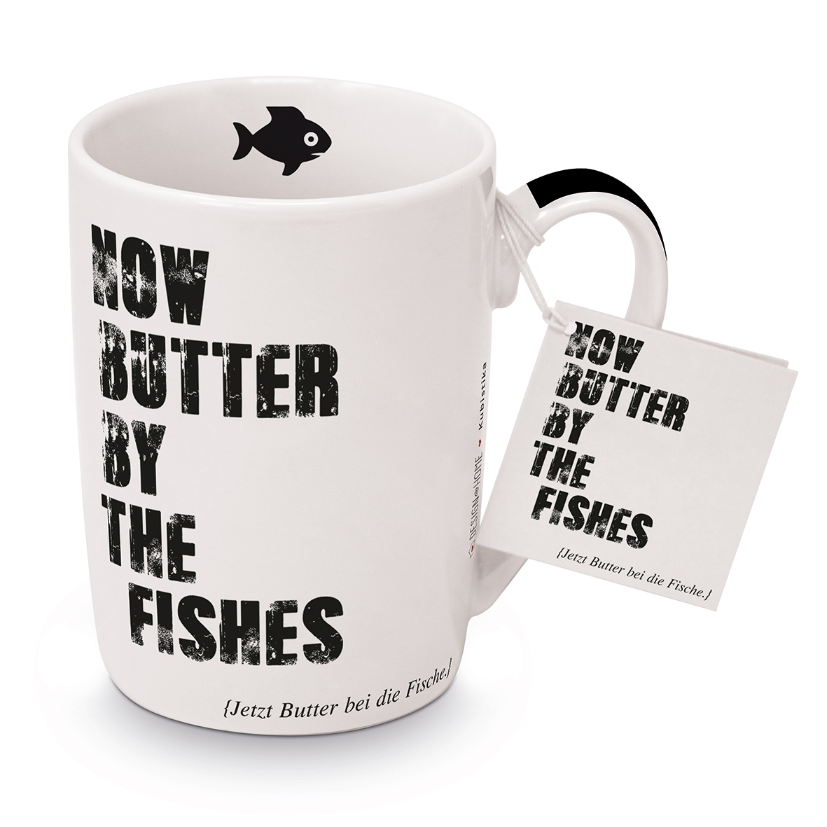 Porcelain Cup - Butter by the fishes