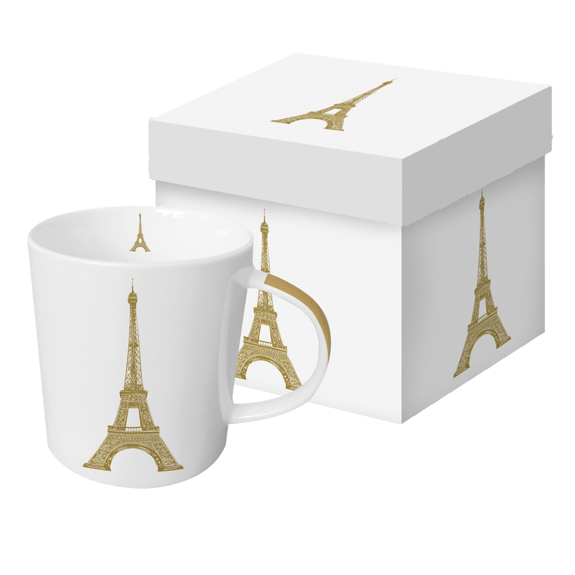 Porcelain cup with handle - Paris Style real gold