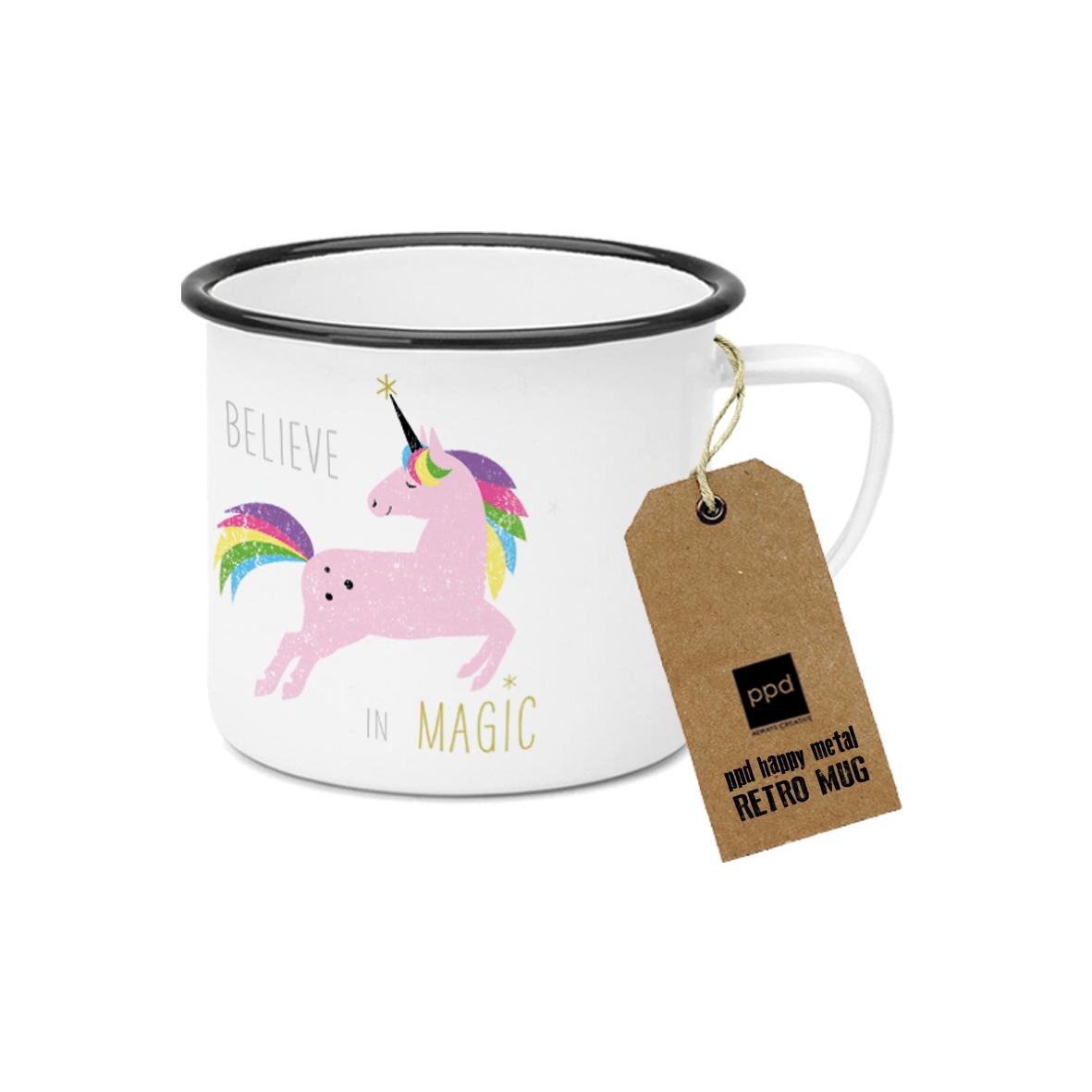 Metal Cup - Happy Metal Pink Unicorn
