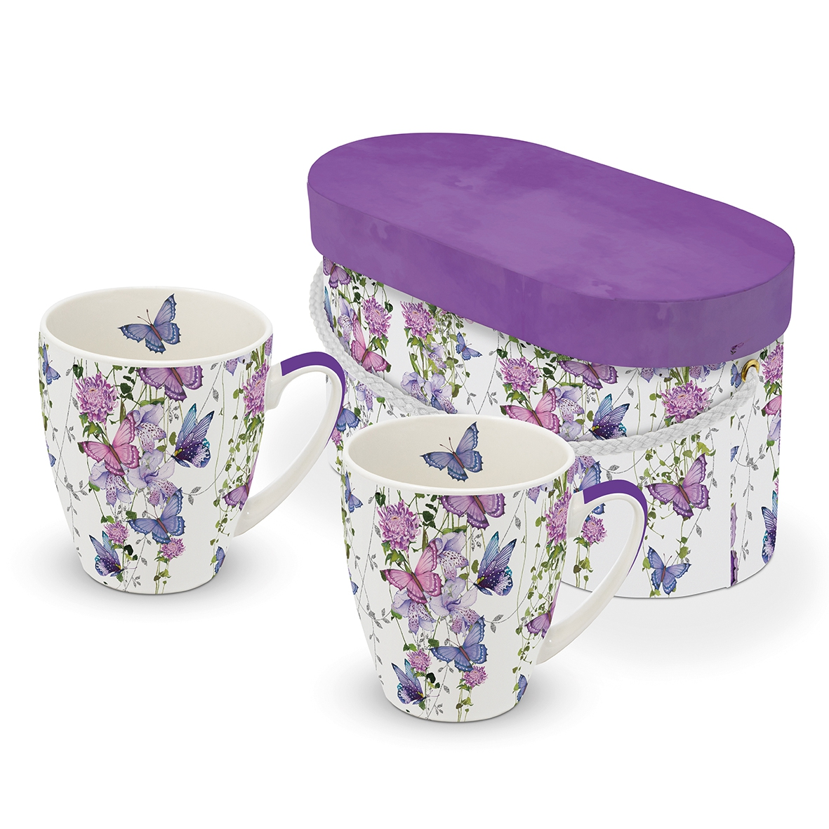 Porcelain cup with handle - Set GB Butterfly Splash