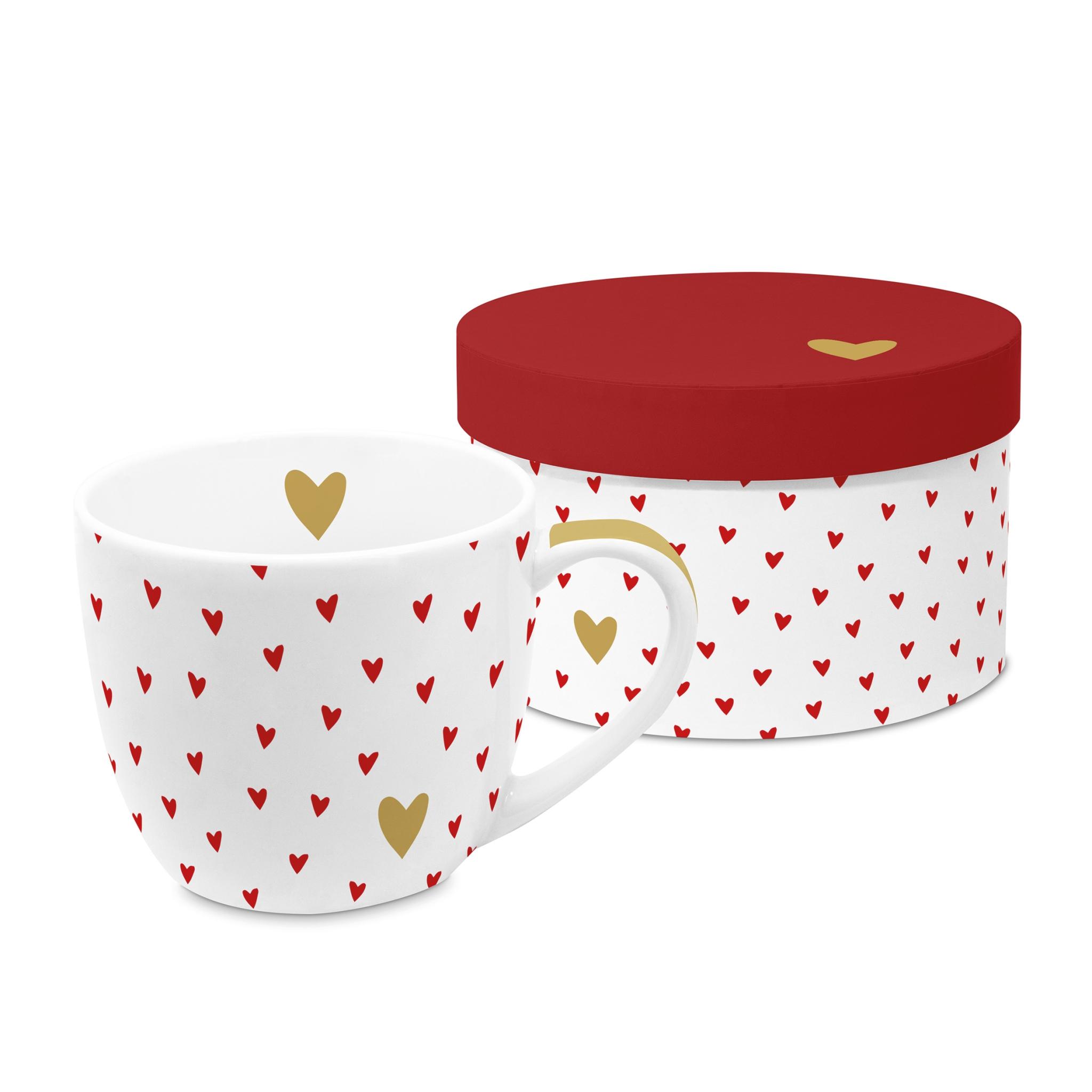 Tazza di porcellana - Big Mug GB Little Hearts real gold