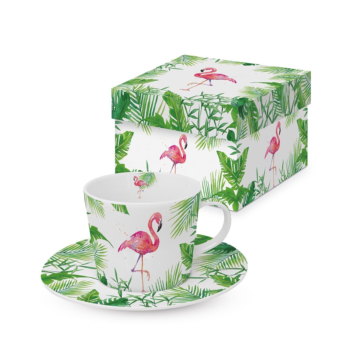 Espresso Cups - Tropical Flamingo