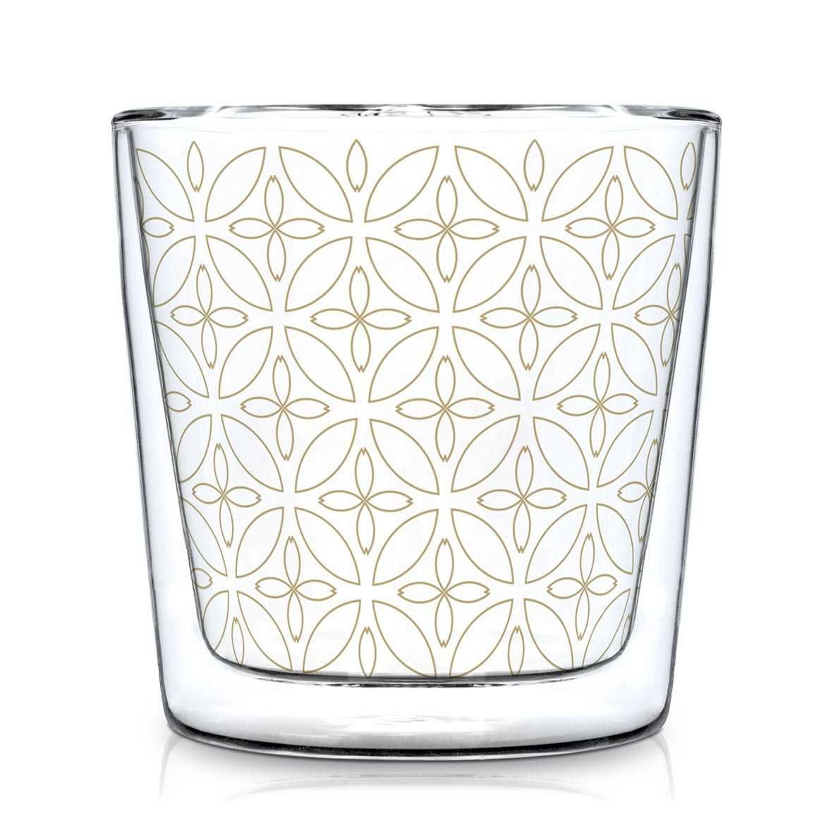 Double wall glass - Kyoto real gold