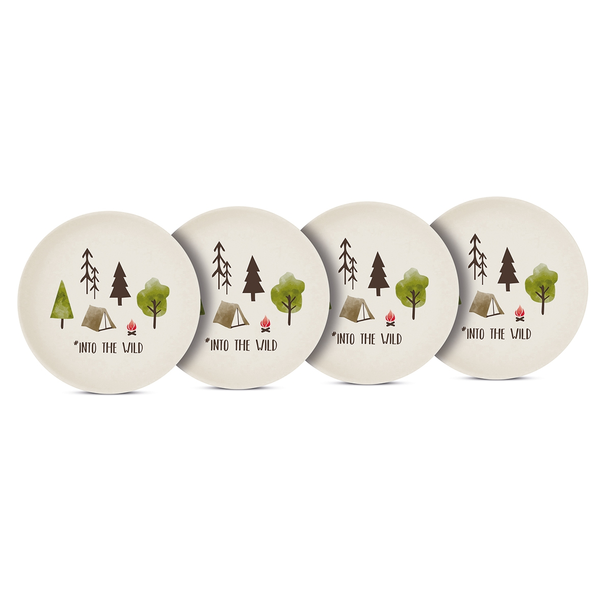 Bamboo plate - Into the wild Set of 4