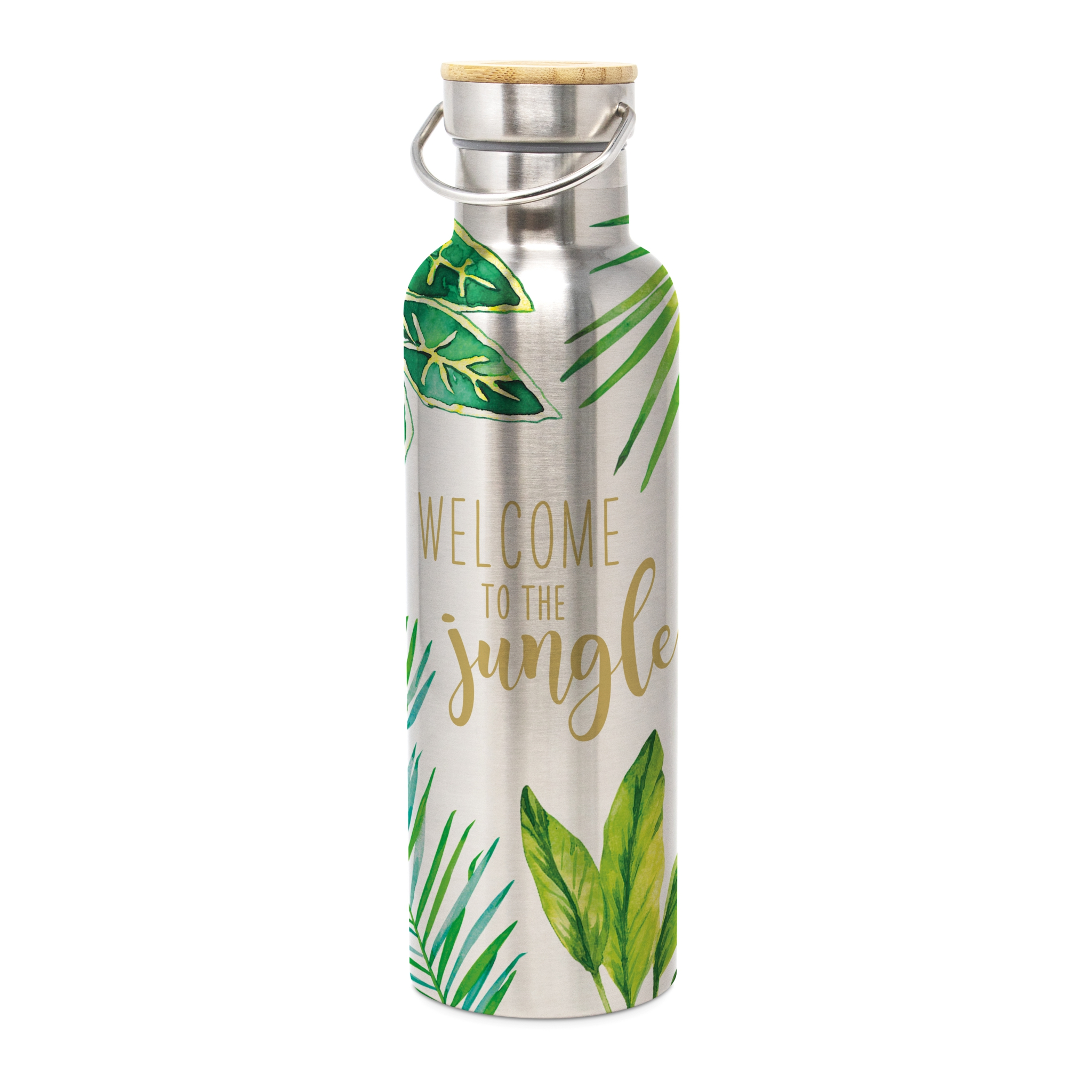 Stainless steel drinking bottle - Jungle
