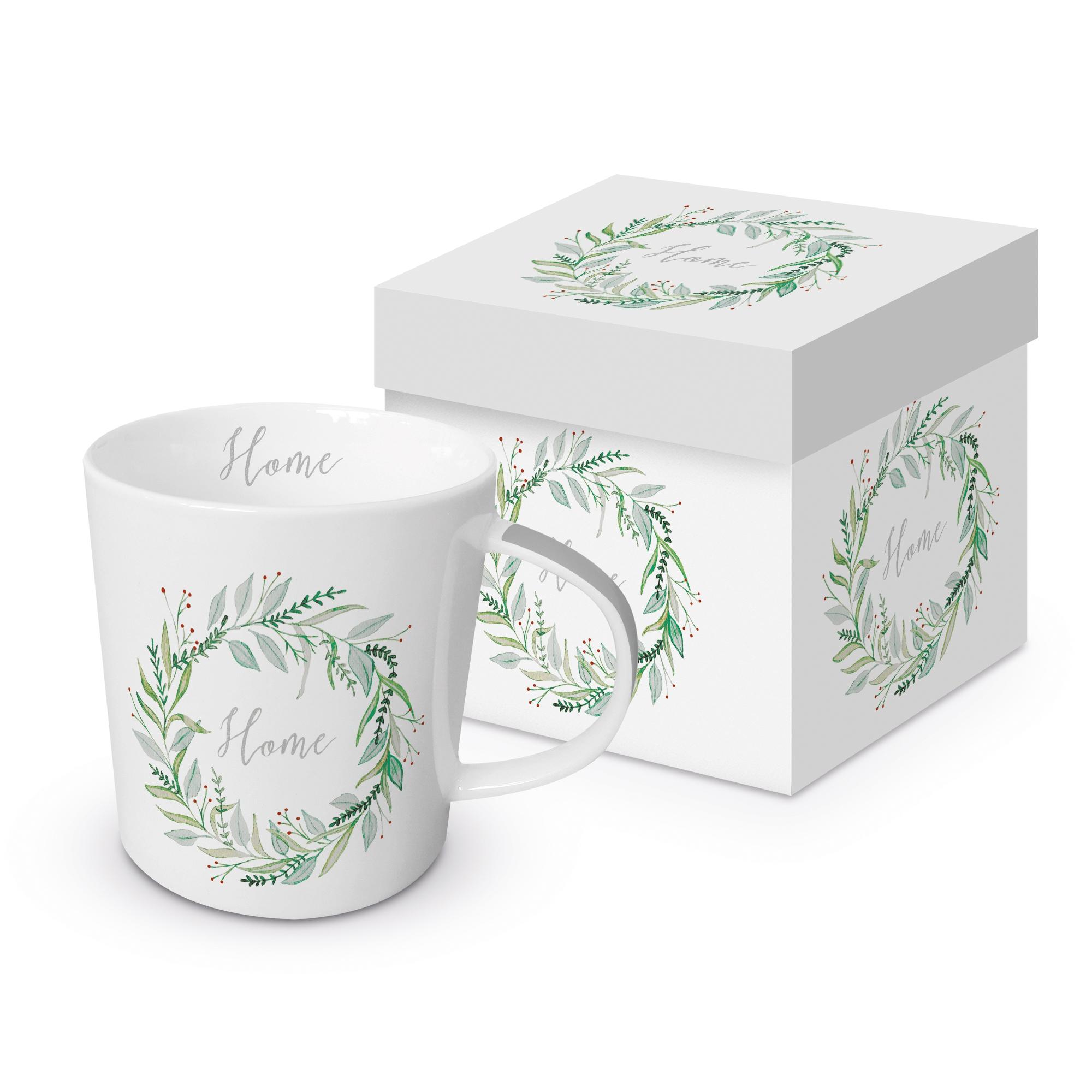Taza de porcelana con mango - Home Trend