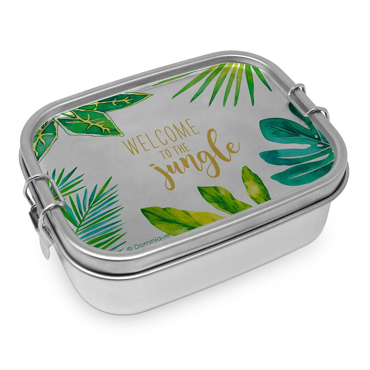 Stainless steel lunch box - Jungle