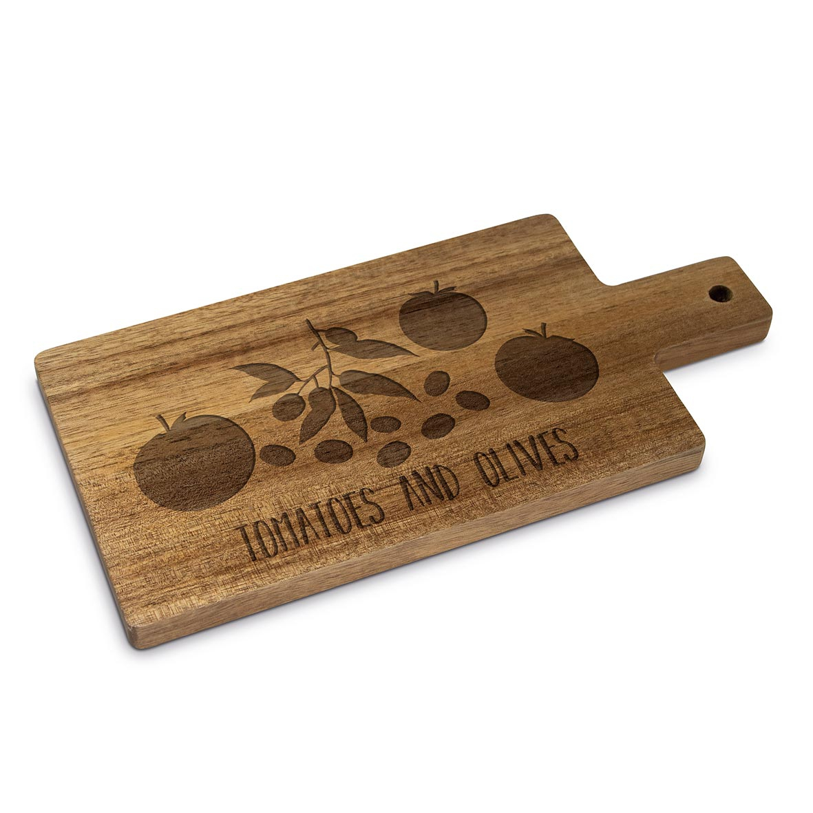 Wooden board - Tomatoes & Olives Wood nature