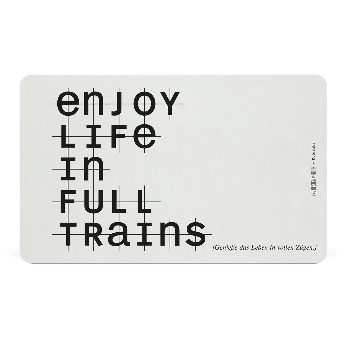 Frühstücks-Brettchen - Tray Enjoy life in full trains