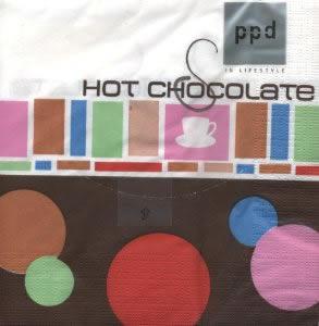 Napkins 33x33 cm - Hot Chocolate