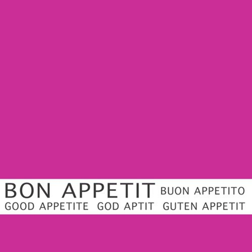 30 napkins 33x33 cm - Bon Appetit fuchsia