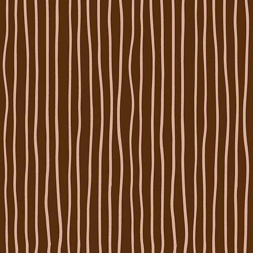 30 napkins 33x33 cm - Curved Lines braun