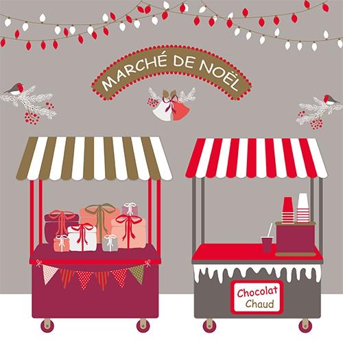 20 servilletas 33x33 cm - Christmas Market