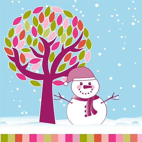 20 napkins 33x33 cm - Snowman under the Tree