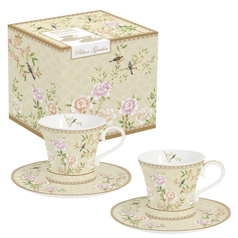 Porcelain Cup - Palace Garden floral