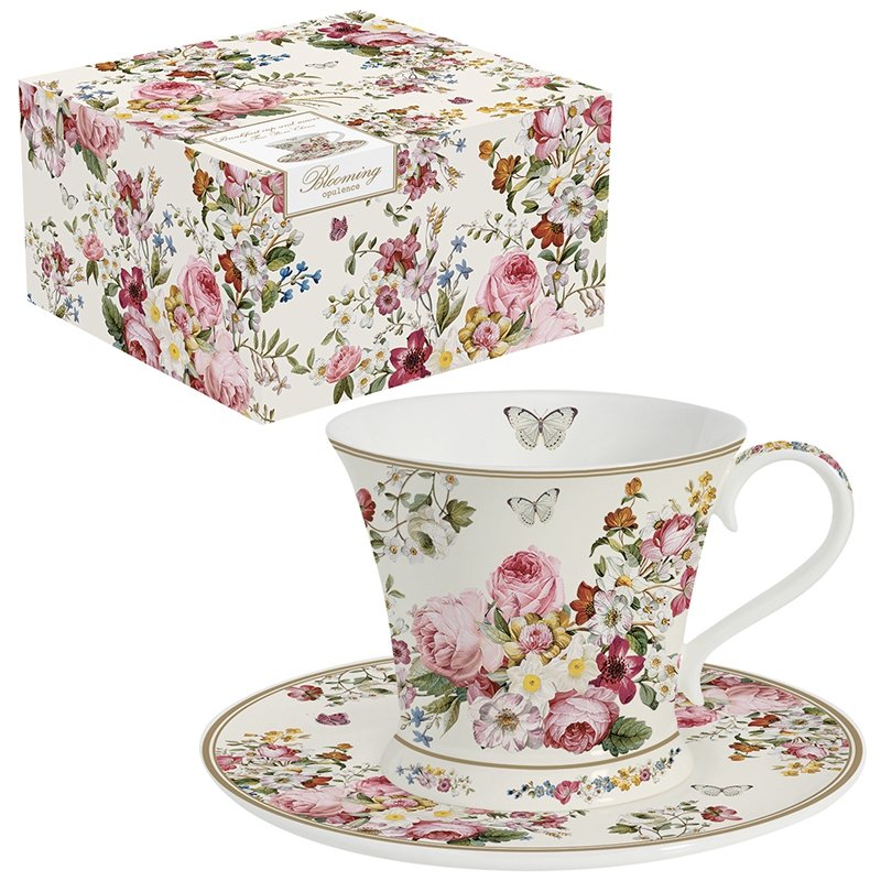Porcelain Cup - Blooming Opulence