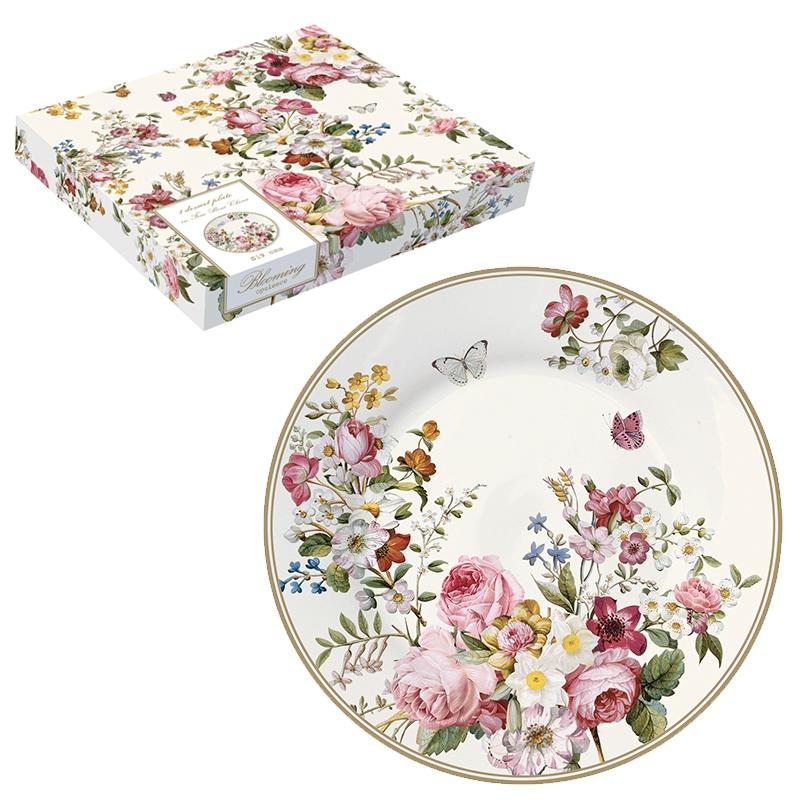 Plato de porcelana de 19 cm. - Blooming Opulence