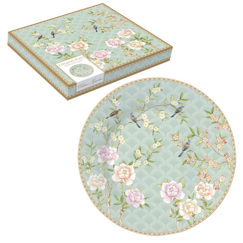 Porcelain plate 19cm - Palace Garden aqua