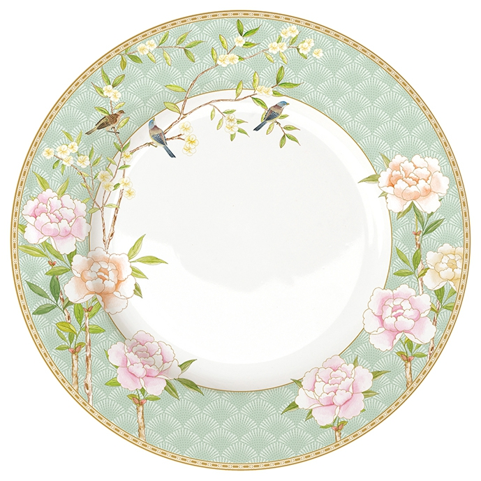 Feeding plate 27cm - Palace Garden Aqua