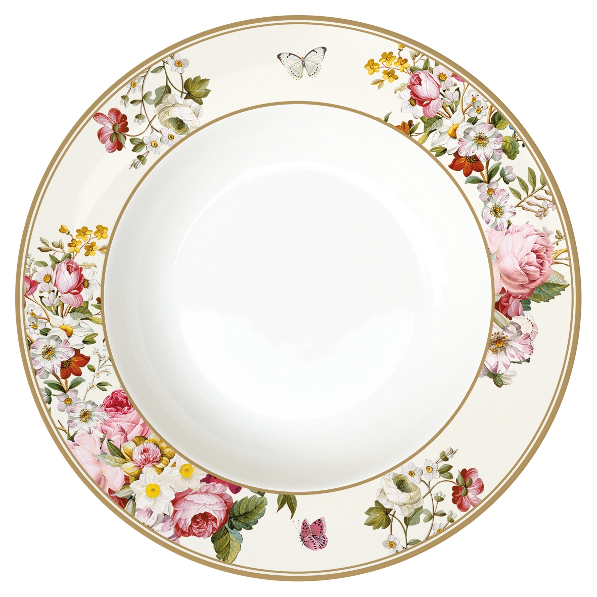 soup plate 22,5cm - Blooming Opulence