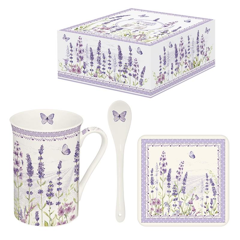Taza de porcelana con mango - Lavender Field