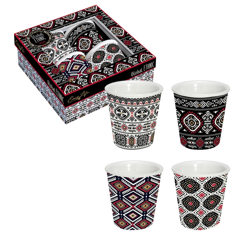 Porcelain Cup - Global Ethnic Incas