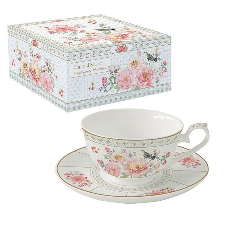 Porcelain Cup - A Day in the Garden