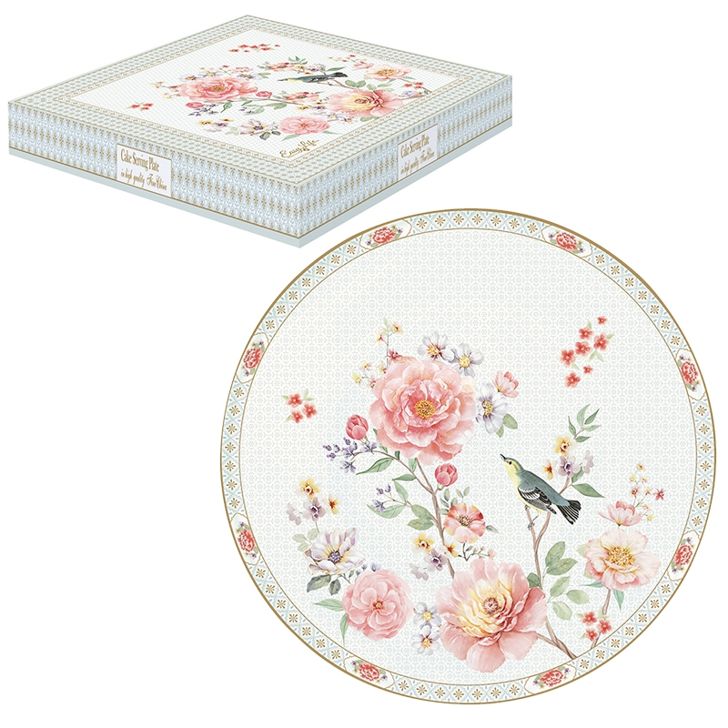 Porcelain cake plate 32cm - A Day in the Garden
