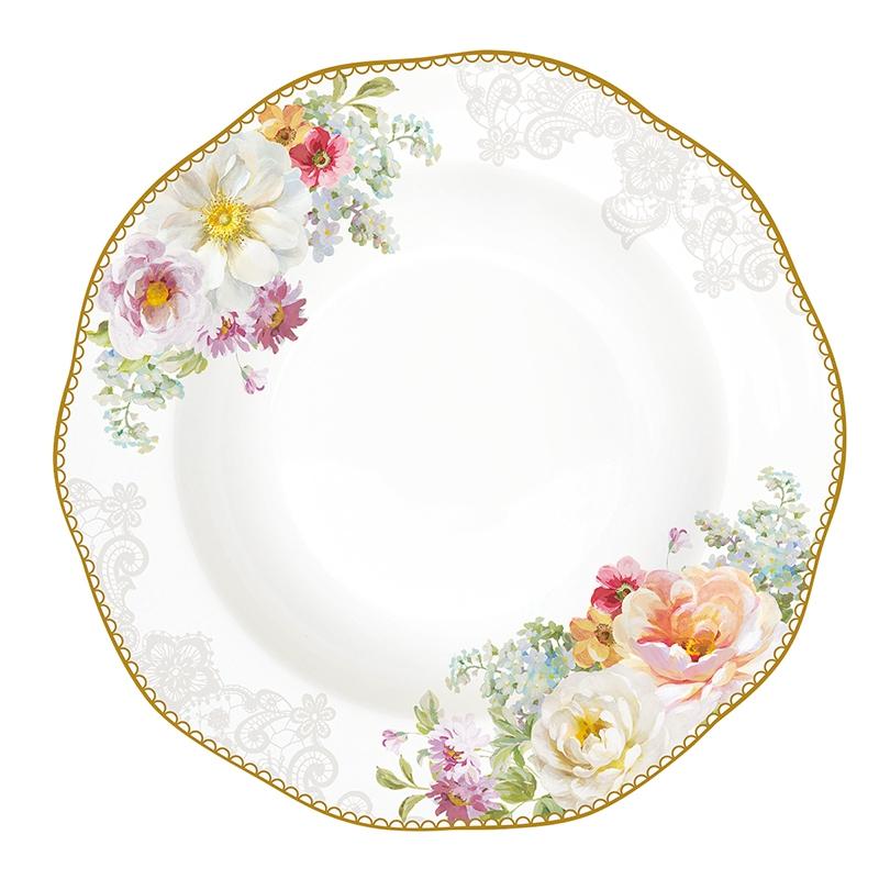 Plato de porcelana 22,5cm - Romantic Lace