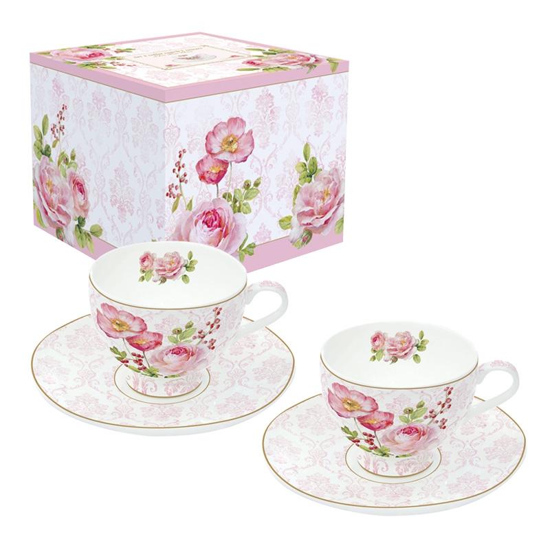 Porcelain Cup - Floral Damask