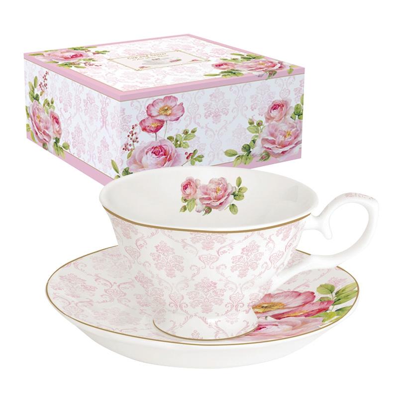 Taza de porcelana - Floral Damask