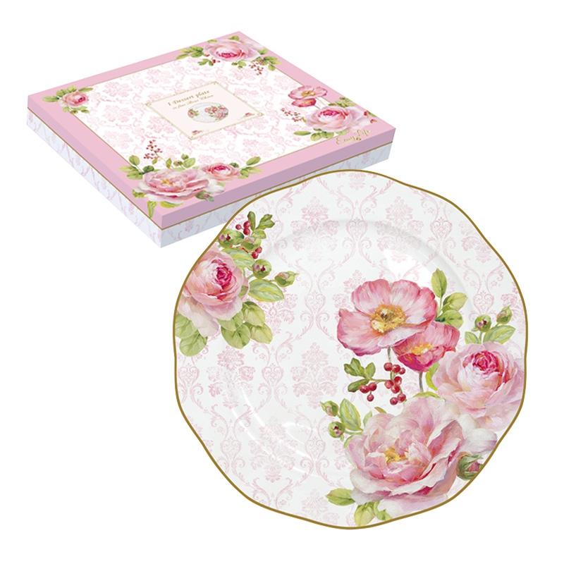 Porcelain plate 19cm - Floral Damask