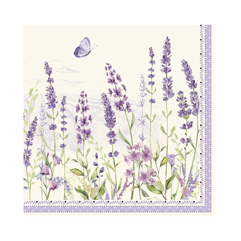Servilletas 33x33 cm - Lavender Field