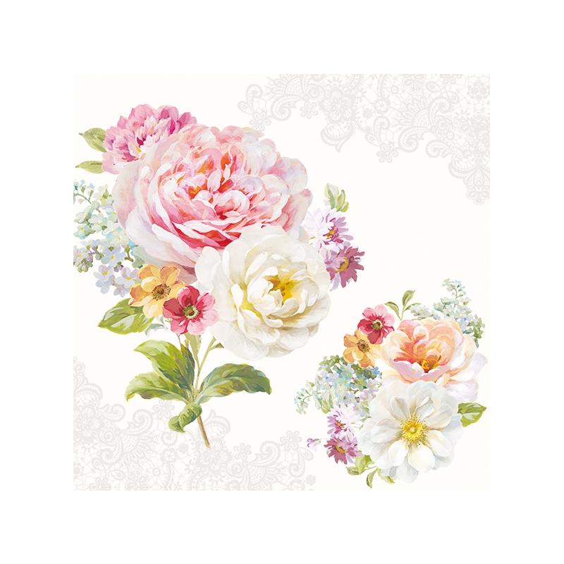 Servilletas 33x33 cm - Romantic Lace
