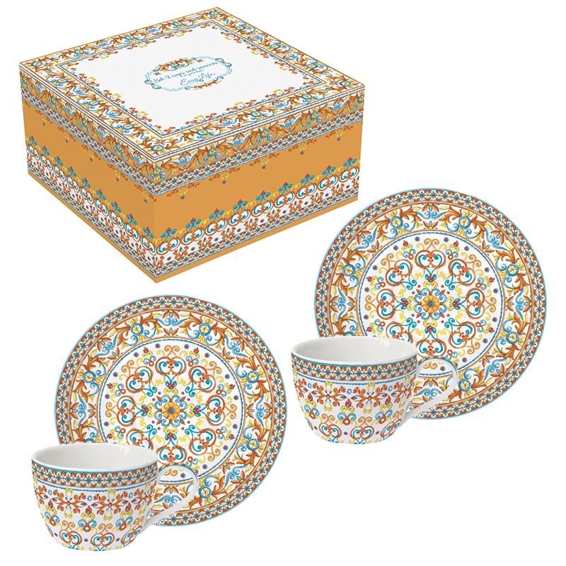 Taza de porcelana - Mediterraneo orange