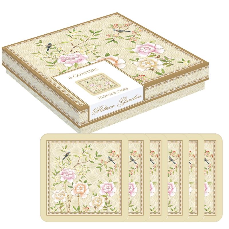Cork Coaster - Palace Garden floral