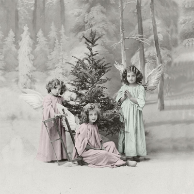 Napkins 33x33 cm - Christmas angels