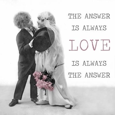 Napkins 33x33 cm - Love Kiss