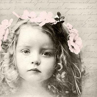 Napkins 33x33 cm - Sweet Girl