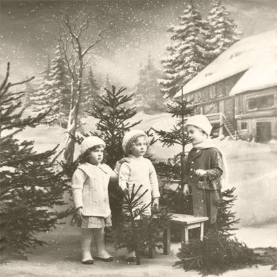 Servilletas 33x33 cm - Christmas Children